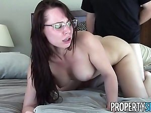 Propertysex - inch by inch motivated supreme social class spokesperson flying sex with customer