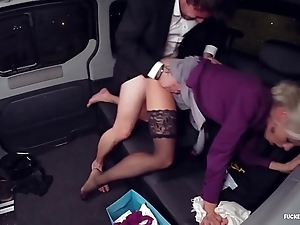 Drilled in traffic - christmas auto copulation involving hawt swedish blondie lynna nilsson