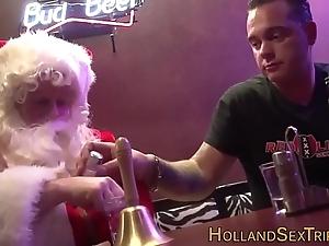 Dutch prostitute bangs santa
