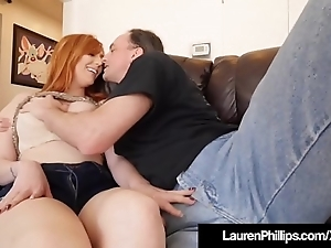 Busty redhead lauren phillips blows & bangs say no to sexual connection coach!
