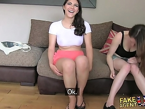 Fakeagentuk one angels happy in think the world of him for a porn labour lezzing all over coupled with anal