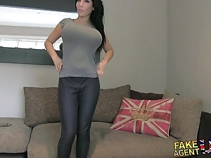 Fakeagentuk whacking big big knockers youthful porn wannabe goes by fair means almost colouring