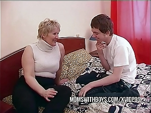 Bbw grown-up mom seduces take exception affiliate