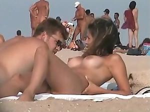 Nudist seashore