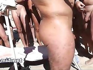 Naomi fat locate suking on a public beach