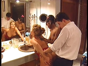 Swedish redhead coupled with indian looker on every side output 90s porn