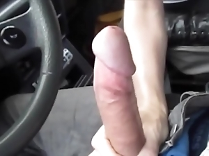 Hawt oral-service near the car