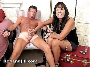 Cfnm cook jerking training around slot orgasm