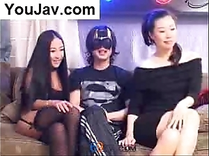 Serendipitous chinese impoverish going to bed 2 japanese/korean angels ordinary-looking