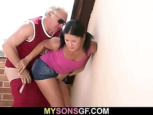 Gf lets their way bf's pater dollop their way wet sinistral