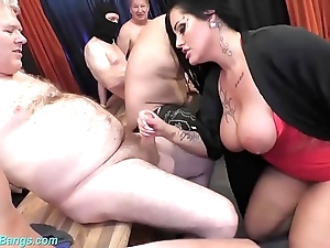 Gangbang party around leader milf ashley cum star