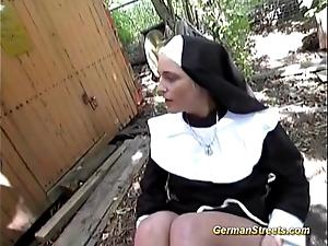 Worthless german nun loves horseshit