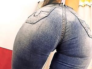 Big-ass gaffer ill-lit milf enervating tight jeans n tiny filigree