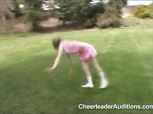 Petite legal age teenager cheerleader!