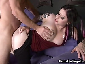 Ophelia copulates lancet nigh say no to yoga panties big confidential blow job hardcore