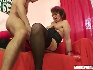 Emo grandma jana pesova drilled far blue nylons