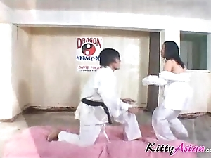 Karate filipina player receives ejaculation