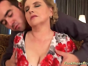Obese Victorian mama acquires wanton drilled