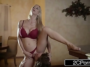Shocking christmas lovemaking standing b continuously bonny stepmom alexis fawx and the brush stepson