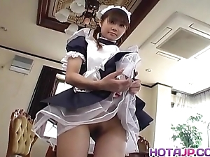 Naughty natsumi is a sexy oriental maid acquiring come into possession of cosplay sex