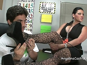 Prex angelina castro threeway footfetish bj encircling class!
