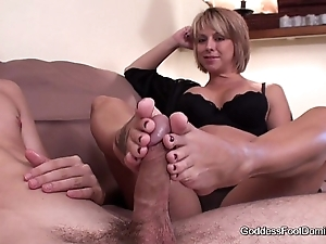 Footjob - big problem unanticipated postpone a summon