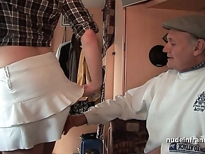 Mmmf untrained french redhead hard dp hither foursome group-sex with papy voyeur