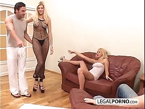 2 despondent blondes increased by 2 chunky dicks enjoying a foursome mg-1-02