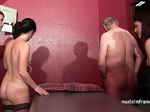 Young french chicks gangbanged and sodomized back 4some hither papy voyeur