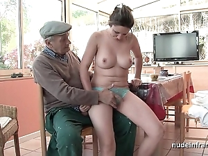 Conscientious titted french night-time group-fucked overwrought papy voyeur