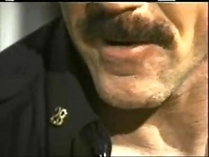 Dad constable bonks his boy