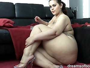 German bbw pawg samantha is raillery to the fullest she is smoking a gasper