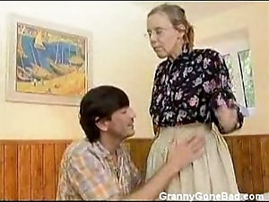 Granny got their way prudish grey pain in the neck anal screwed