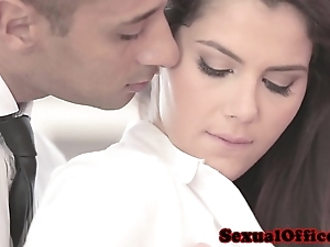 Snazzy officesex closeup adjacent to valentina nappi