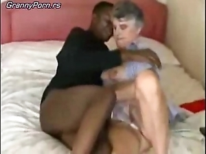 Age-old granny fuck jet-black guy