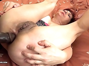 Grannies hardcore drilled interracial porn with elderly battalion loving black jocks