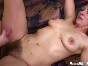 Downhearted stepson bonks his soft pussied stepmom