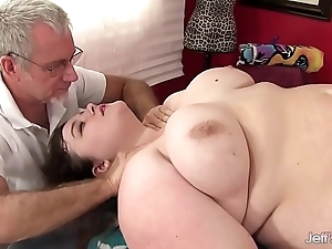 Sexy rotund sapphire flesh-coloured acquires a lovemaking rub-down