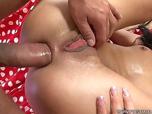 Firstanalquest.com - anal stimulation be fitting of a skinny czech at hand tiny interior