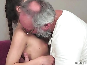 Teenie anita bellini gets drilled off out of one's mind a grand-dad