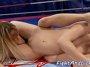 Wrestling lesbian babes gender in the matter of a ring