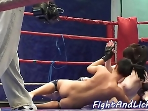 European lezzies wrestling added to pussylicking