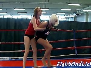 Redhead dyke fingered verification wrestling
