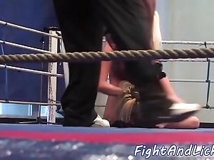 Inexpert lesbian babes tribbing plus wrestling