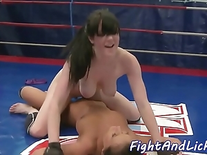 Bigtits wrestling euro gratified relating to toys